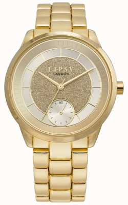 Lipsy | Womens Gold Tone Stainless Steel | Gold Dial | LP628