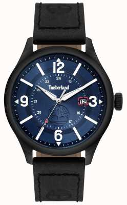 Timberland | Mens Blake | Black Leather Strap | Blue Dial | 14645JSU/03