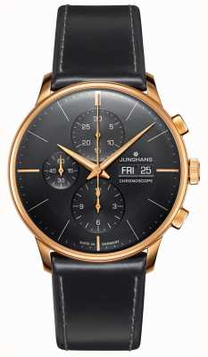 Junghans Meister Chronoscope | Black Leather Strap | 027/7923.01