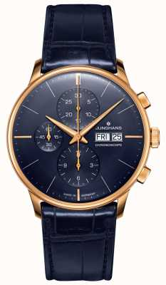 Junghans Meister Chronoscope | Blue Leather Strap | 027/7924.01