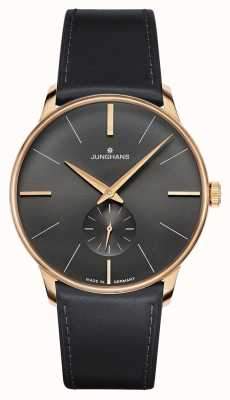 Junghans Mens Meister Hand-winding Black Leather Strap 027/5903.00