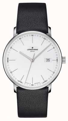 Junghans Men's FORM Mega Radio Controlled Black Leather 058/4930.00