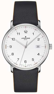 Junghans FORM Mega Radio Controlled Black Leather 058/4931.00