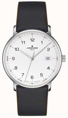 Junghans FORM Mega Radio Controlled Black Leather 058/4931.00