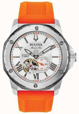 Bulova | Men's | Marine Star | Automatic | Orange Rubber Strap | 98A226