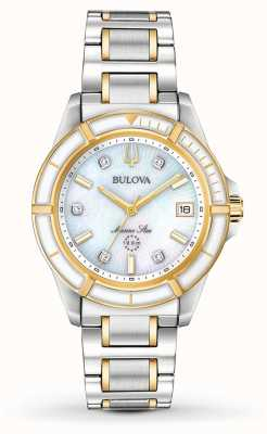 Bulova Women's Marine Star Two Tone Bracelet 98P186