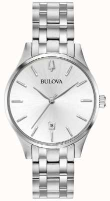 Bulova Women's Stainless Steel Silver Dial Date 96M148