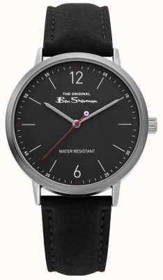 Ben Sherman | Gents Black Leather Strap | Black Dial | BS019B
