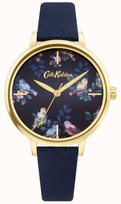 Cath Kidston | Blue Leather Strap | Blue Floral Dial | CKL069UG