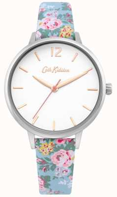 Cath Kidston | Ladies Light Blue Floral Strap | White Dial | CKL067U