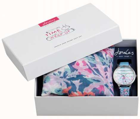 Joules | Women's Watch And Scarf Gift Set | JSL015USSET