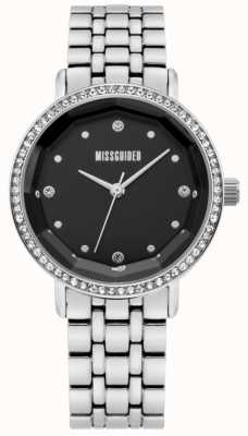 Missguided | Womens Stainless Steel | Black Dial | Crystal Bezel | MG021SM