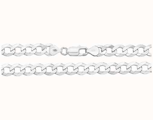 Treasure House Silver Flat Curb Open Chain G1157/24