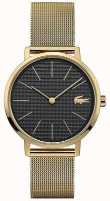Lacoste | Women's Moon | Gold Plated Mesh Bracelet | Black Dial | 2001073