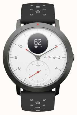 Withings Steel HR Sport 40mm White Dial Black Silicone Strap HWA03B-40WHITE-SPORT-ALL-INTER