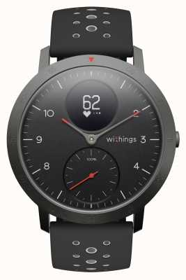 Withings Steel HR Sport 40mm Black Dial Black Silicone Strap HWA03B-40BLACK-SPORT-ALL-INTER