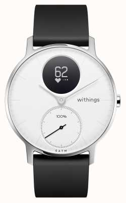 Withings Steel HR 36mm White Dial Black Silicone Strap HWA03-36WHITE-ALL-INTER