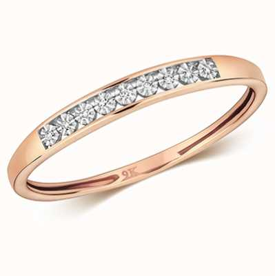 Treasure House 9k Rose Gold Diamond Illusion Eternity Ring RD693R/N