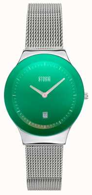 STORM | Mini Sotec Lazer Green | Stainless Steel Mesh Strap | 47383/LG