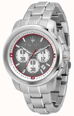 Maserati Royale Chronograph Grey Dial Stainless Steel Bracelet R8873637003