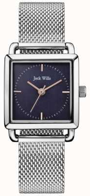 Jack Wills | Ladies Steel Mesh Loring Watch | Blue Dial | JW016NVSL