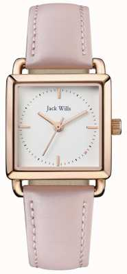 Jack Wills | Ladies Loring Pink LeatherStrap | White Dial | JW016WHPK