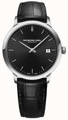 Raymond Weil | Mens Toccata Black Leather | Black Dial | 5485-STC-20001