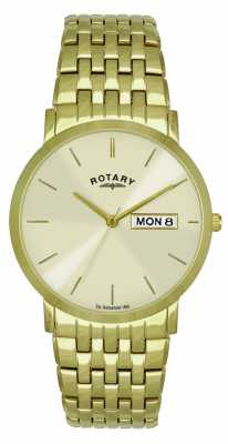 Rotary Mens Gold Plated Bracelet GB02624/03/DD
