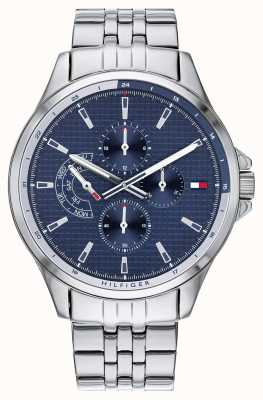 Tommy Hilfiger Shawn | Stainless Steel Bracelet | Blue Dial 1791612
