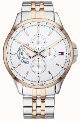 Tommy Hilfiger Shawn | Two Tone Stainless Steel Bracelet | White Dial | 1791617