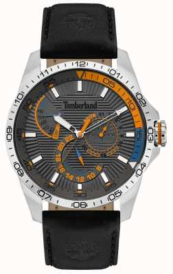 Timberland | Mens Oakham Watch| Black Leather Strap | Grey Dial | 15641JS/13