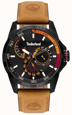 Timberland | Mens Oakham Watch | Tan Leather Strap | Black Dial | 15641JSB/02