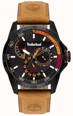 Timberland | Mens Oakham Watch | Tan Leather Strap | Black Dial | 15641JSB/02