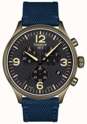 Tissot | Mens Chrono XL | Blue Fabric Strap | Black Dial | T1166173705701