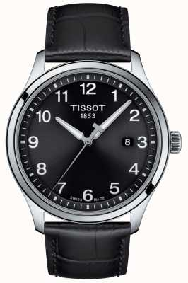 Tissot | Mens XL | Black Dial | Black Leather Strap | T1164101605700