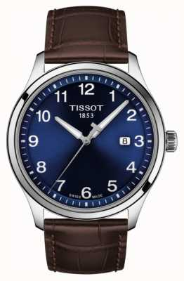 Tissot | Mens XL | Blue Dial | Brown Leather Strap | T1164101604700