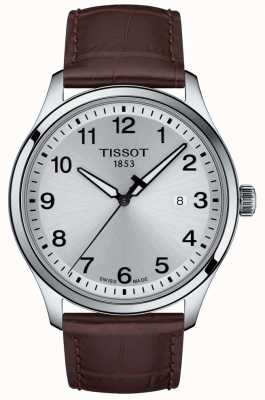 Tissot | Mens XL | Silver Dial | Brown Leather Strap | T1164101603700