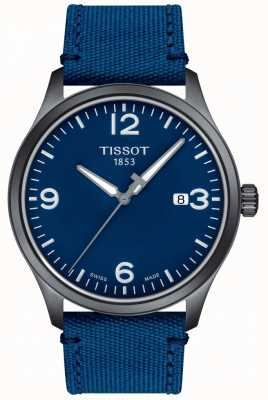 Tissot | Mens XL | Blue Dial | Blue Synthetic Strap | T1164103704700