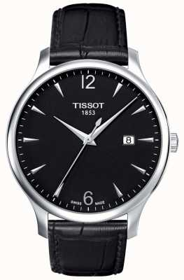 Tissot | Men's Traditional | Black Leather Strap | Black Dial | T0636101605700