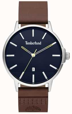 Timberland | Mens Rollinsford | Brown Leather Strap | Blue Dial | 15637JYS/03