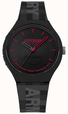 Superdry | Mens Urban XL | Grey Silicone Strap | Black Dial | SYG251B