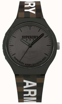 Superdry | Mens Urban XL | Two Tone Silicone Strap | Gunmetal Grey SYG251E