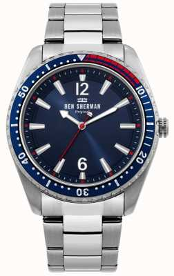 Ben Sherman | Mens Ronnie Diver Watch | Blue Sunray Dial | WB037USM