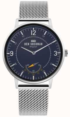 Ben Sherman | Mens Portobello Heritage | Blue Dial | Silver Mesh | WB034USM