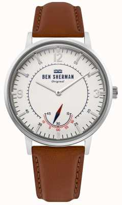 Ben Sherman | Mens Portobello Heritage | Off White Dial | Tan Leather | WB034T