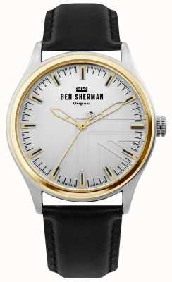 Ben Sherman | Mens Harrison | Black Leather Strap | Silver Dial | WB036B