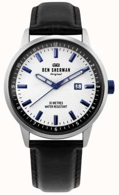Ben Sherman | Mens Daltrey Professional | Black Leather | White Dial | WB030B