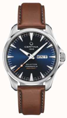 Certina | DS Action Day-Date Powermatic 80| Blue Dial | EX-DISPLAY C0324301604100EX-DISPLAY