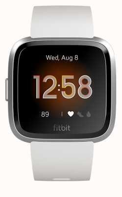 Fitbit Versa Lite White/Silver Aluminum (online only) FB415SRWT