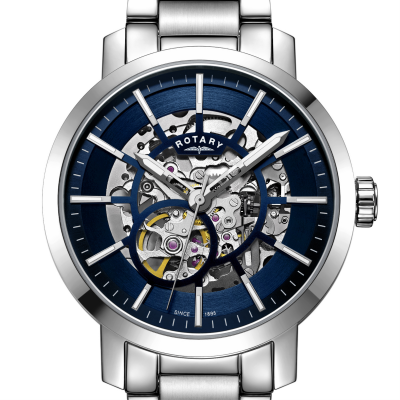 c247a3bd1f3d Rotary Mens Skeleton Automatic Leather GS02940 06 - First Class Watches™